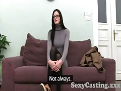 Casting HD Catwalk model fucks in interview