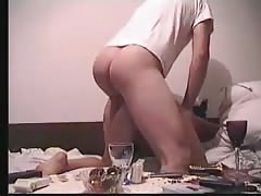 Sweet chick is being drilled hard deep in her tanned ass