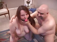 Big-ass whore is really enjoying cock-sucking in the doggy style pose