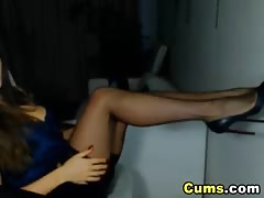 Hot Lady Strips and Plays her Pussy