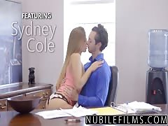 Cock Riding Assistant Sydney Cole Fucks Boss on Desk