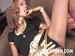 Blonde salope masturbation