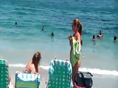 mother and NOT her daughter on the beach show attributes