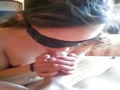 Blindfolded slut