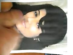 facial tribute for young indian slut