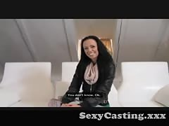 Casting - Super skinny and stunning makes him blow early