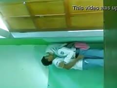 school couple caught by hidden cam