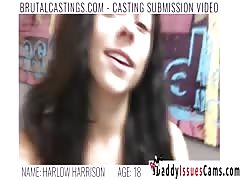 Girl brutally fucked at casting